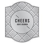 Personalised Beer Bottle Label - Silver Metallic Foil