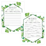 Maidenhair Fern Greenery Wedding Libs Wishes / Advice Cards - Duplex Print