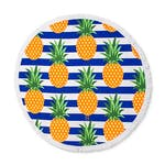Personalised Round Beach Towel – Pineapple Pattern