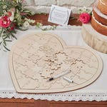 Wooden Boho Inspired Wedding Wishes Jigsaw Keepsake